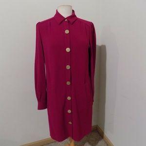 DIANE VON FURSTENBERG Cranberry Belted Dress, 8